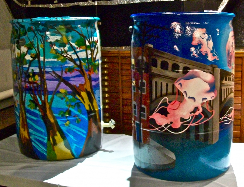 Collinwood Painted Rain Barrel Auction 2013 The